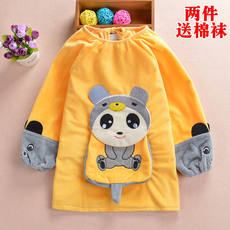 Baby smock baby child waterproof anti-dress apron dinner clothing long sleeve painting protective clothing children blouse autumn and winter