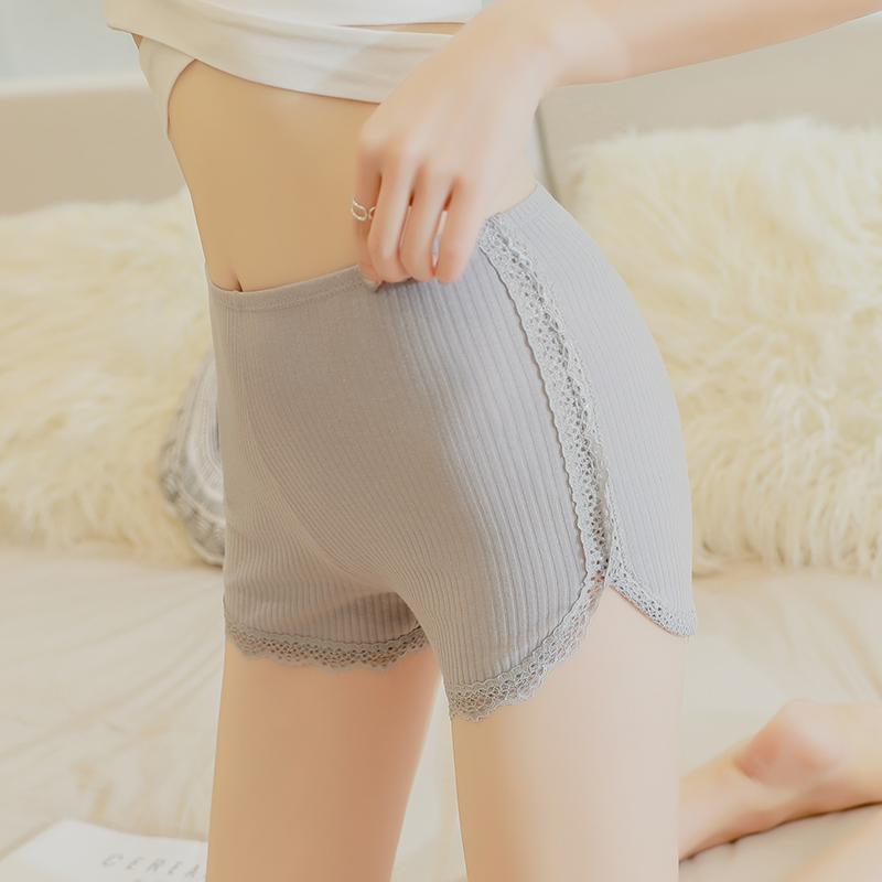 安全裤防走光女夏可外穿打底裤内搭蕾丝学生保险裤薄款纯棉不卷边