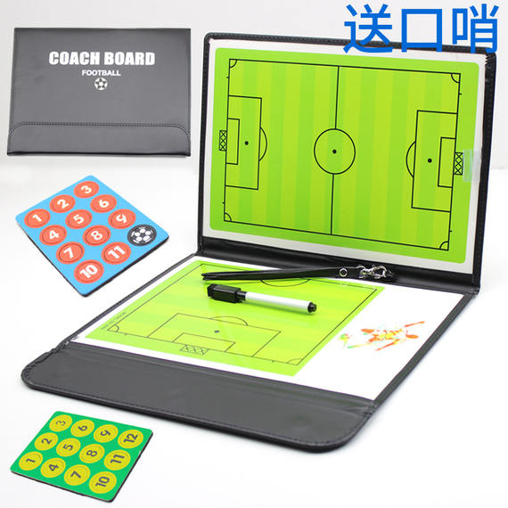 Football tactic board color coach board training teaching board tactical drill board with magnetic command board