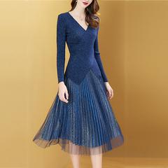 欧洲秋季女装两件套连衣裙2018新款轻熟风针织气质毛衣配裙子套装