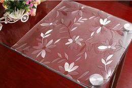 73软质玻璃桌布磨砂透明水晶板防水免洗进口塑料压花茶几餐桌垫子