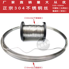 304 stainless steel wire Single soft and thin steel wire 0.05-0.3/0.4/0.5/0.6/0.8mm24 honeycomb frame