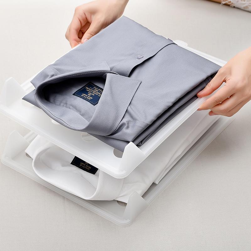 日式叠衣板衬衫T恤收纳折衣板叠衣服懒人收纳整理架家用