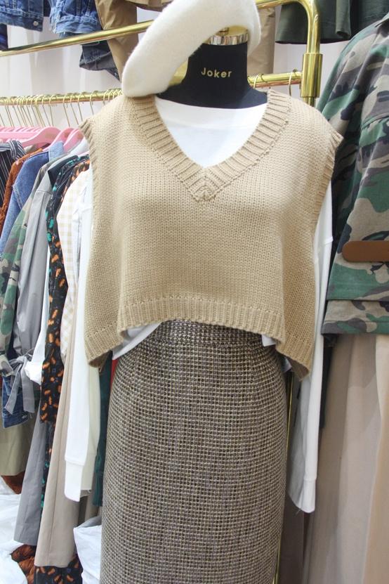 韩国代购 JOKER-A 女士无袖简洁针织衫不含其它均码