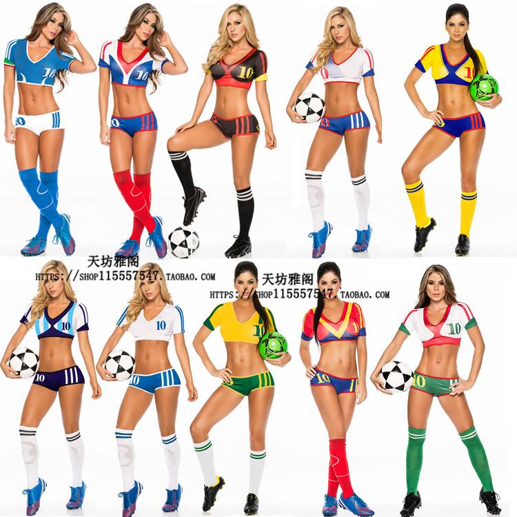 世界杯欧洲杯足球啦啦队服夜店迪吧舞女辣妹DS演出服足球宝贝写真