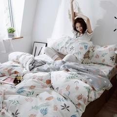 全棉四件套纯棉斜纹床单被套单人双人1.5m1.8米床上用品夏季