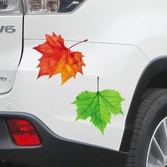 3D逼真枫叶贴纸汽车贴纸划痕遮挡防水前杠后杠装饰个性拉花门贴