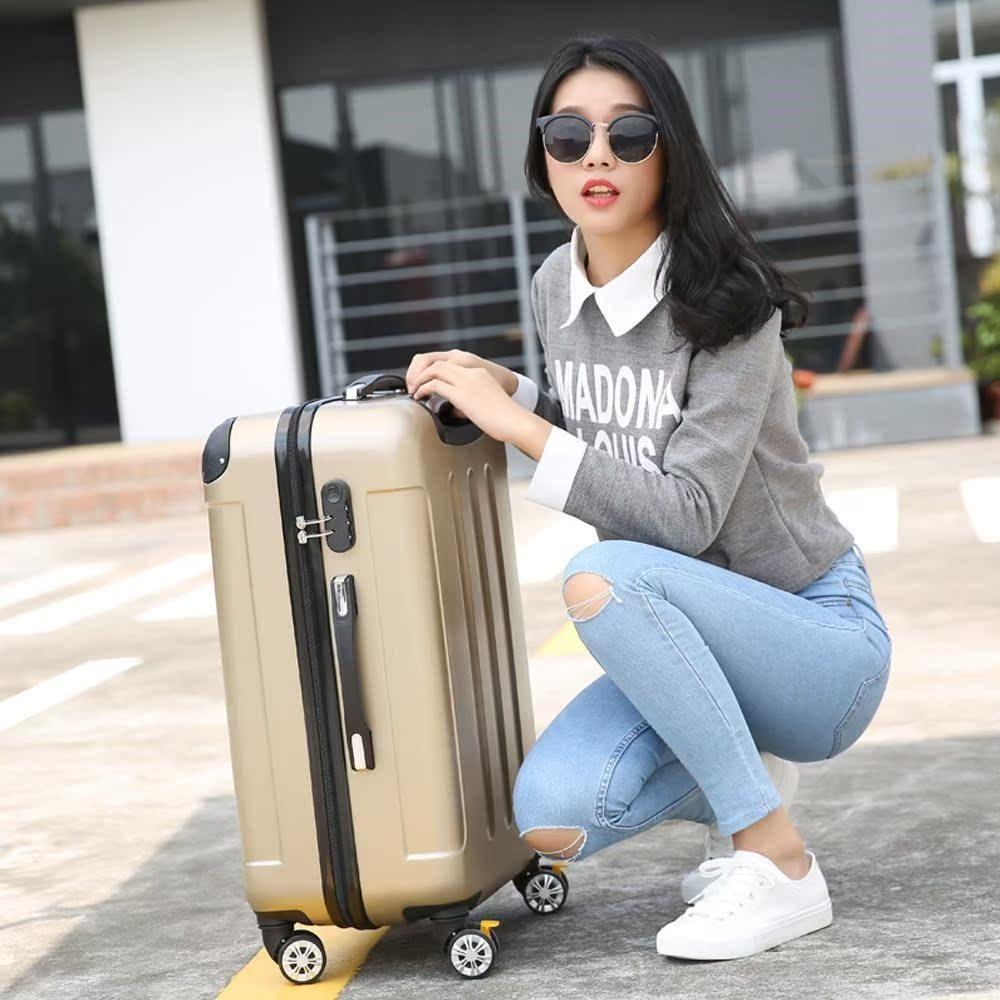青年行李箱万向轮拉杆箱箱包扩展旅行箱皮箱新款纯色男女想相湘