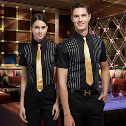 龙丽儿夏装酒店ktv服务员工作服短袖衬衫夜总会ktv少爷服制服男女