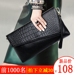 真皮手拿包女2018新款韩版斜挎包小包包女士大容量手抓包气质手包
