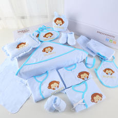 Cotton baby clothes newborn gift set summer 0-3 months spring and autumn newborn baby maternity supplies