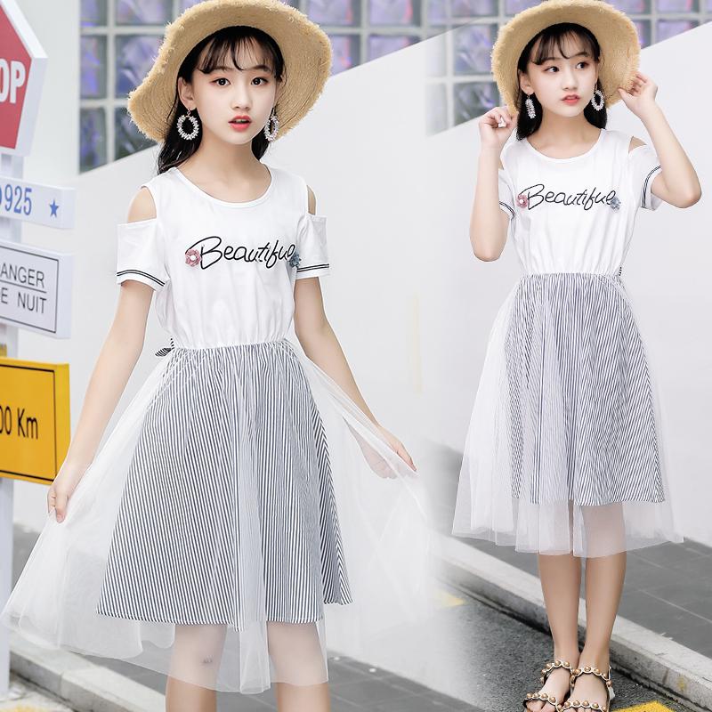 女童夏装2019新款连衣裙韩版大童夏季儿童洋气裙子女孩衣服公主裙