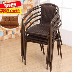 Special plastic rattan chair single back chair leisure chair mahjong chair dining chair stool computer chair three or five sets