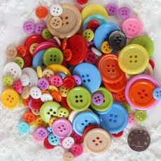 Wooden round button diy accessories plastic decorative buckle pure wood button 15mm color wooden buckle