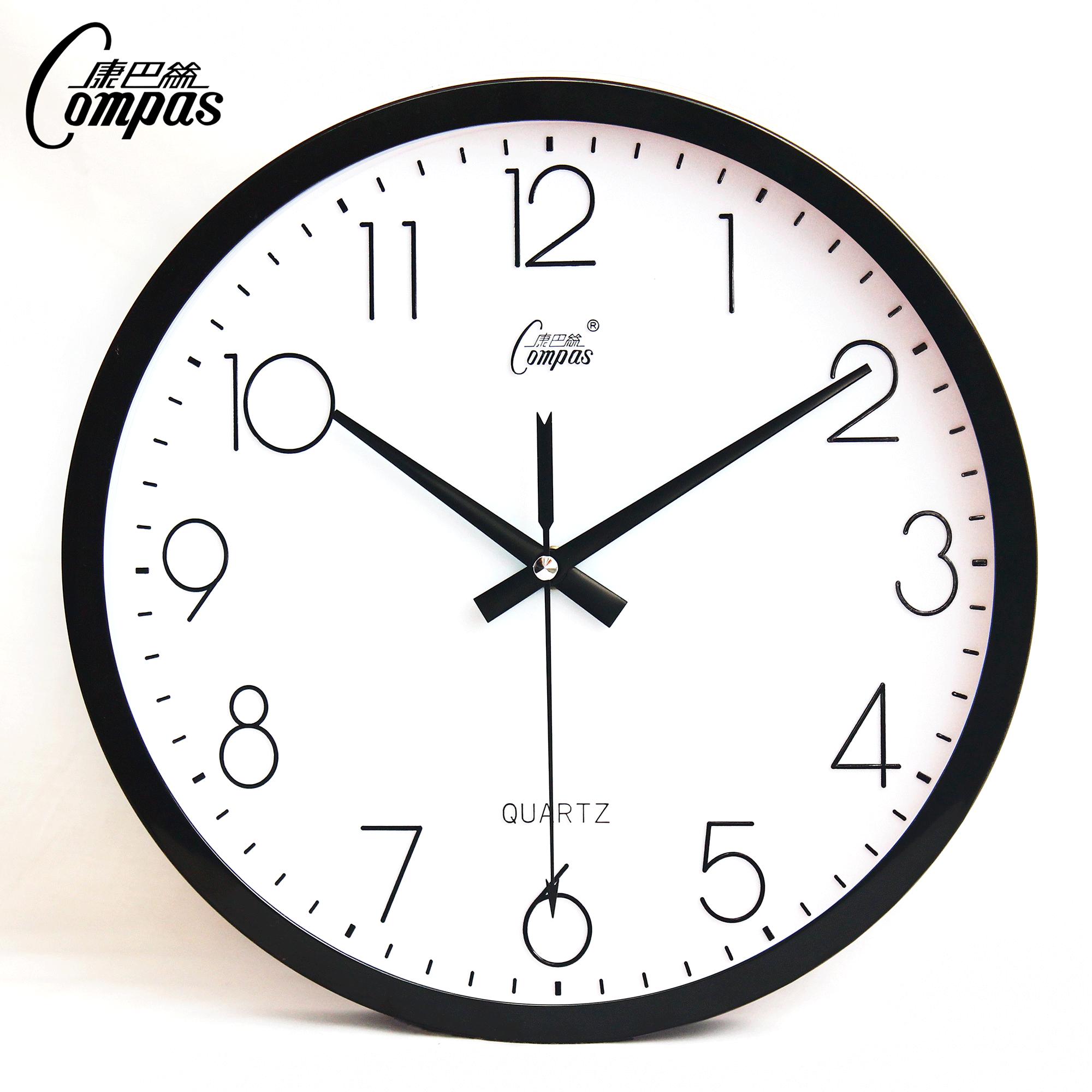 康巴丝石英钟现代钟表个性挂钟创意钟客厅时钟大挂表静音简约壁钟