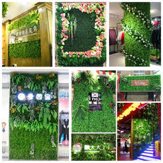 Green plant wall simulation plant wall decoration living room interior background flower wall green wall hanging plastic fake lawn balcony