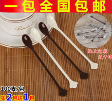 Special offer disposable plastic coffee spoon / stir bar / coffee stir bar / coffee 羹 independent packaging 100