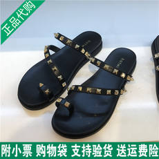 2018 summer hot air new trend fashion rivets ladies slippers thong sandals wear sandals H51W8210