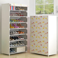Shoe rack household racks dormitory female simple door small shoes cabinet economy type bedroom space home people storage
