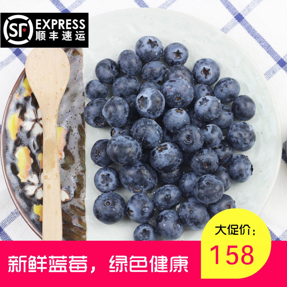 蓝莓新鲜水果蓝丰蓝莓宝宝辅食孕妇水果125g*6盒新鲜采摘顺丰包邮