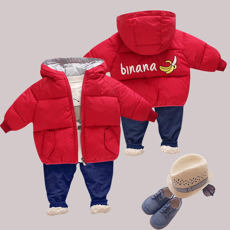 反季儿童羽绒棉服轻薄款女童面包服连帽男童短款宝宝婴儿外套棉衣
