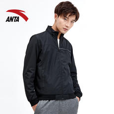 Anta sports jacket men's official authentic 2018 autumn and winter new casual stand collar jacket fashion warm top