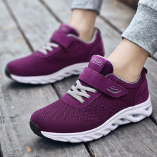 Spring and summer non-slip old shoes middle-aged and elderly walking shoes female middle-aged sports shoes and women's shoes soft soles mother shoes Li Jian