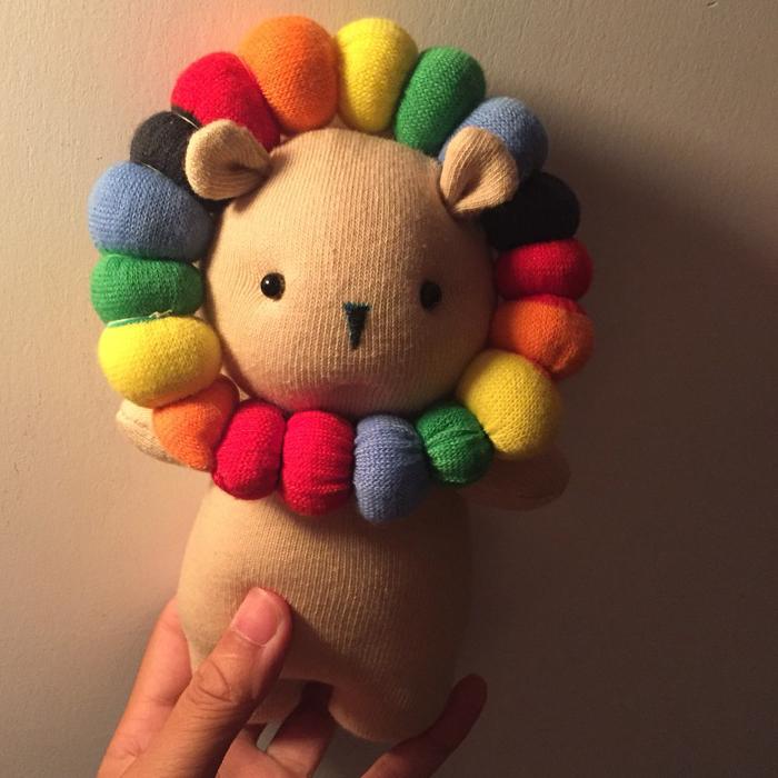 手工diy狮子公仔材料包 手工制作布偶娃娃手工布艺玩偶diy材料包