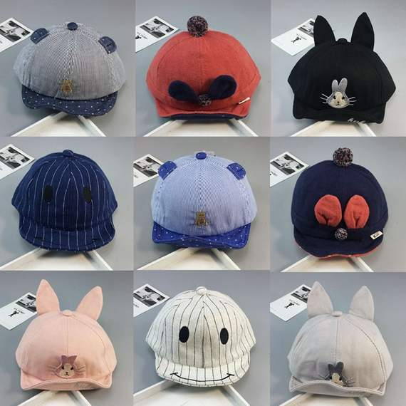 Spring and Autumn Baby Cap 0-1-2 Summer Men and Women Tide Children Sun Hat 6-12 Months Baby Hat Shade