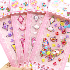 Children's handmade diy production decorative butterfly diamond stickers mobile phone shell drill stickers shiny small stickers color flash drill