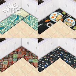 京华 厨房地垫长条家用防滑门垫进门脚垫卫浴卧室可手洗地毯套装