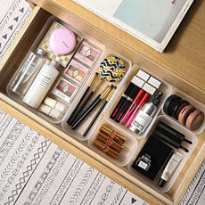 Scrub Drawer Separation Finishing Box Plastic Cosmetics Storage Box Multi-function Storage Box Stationery Cutlery Storage