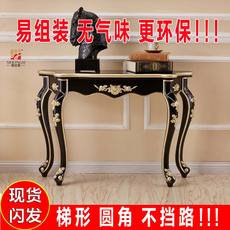 Entrance table European porch Taiwan French porch cabinet sofa back several Korean semicircular corridor entrance table against the wall American