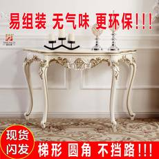 Luxury European porch table French porch cabinet Korean porch table sofa back several new wall side table semi-round table