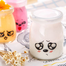 Pudding glass high temperature with lid yogurt bottle baking mold mousse cup jelly cup milkshake cups jam bottles