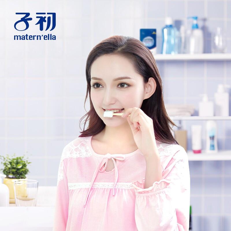 子初用品月子牙刷产后软毛纱布一次性孕产妇专用怀孕期牙刷免牙膏