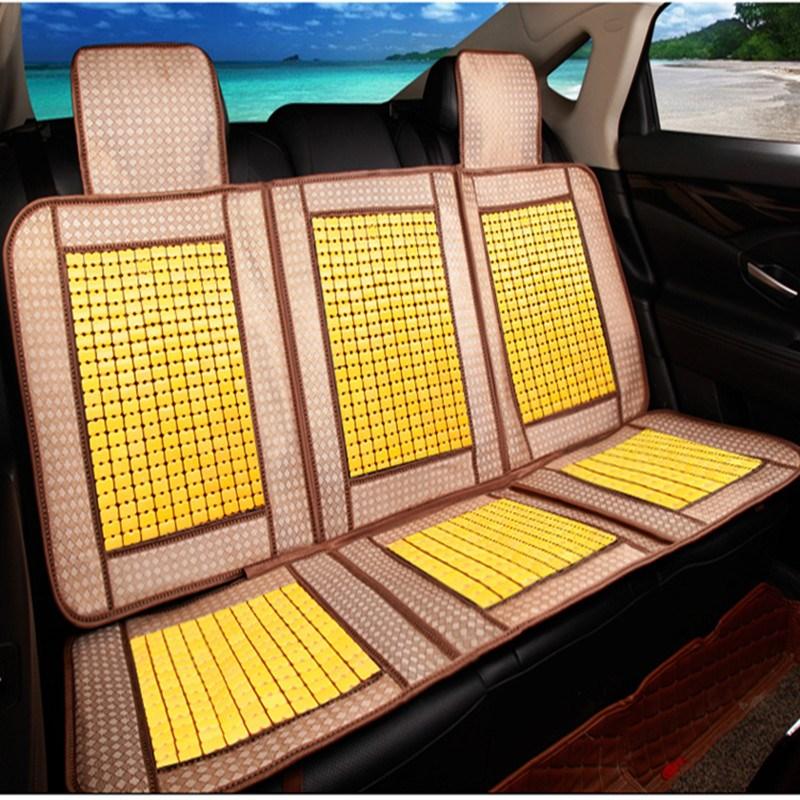 夏季竹片汽车坐垫单排中排双人座后排三人座位长条一张凉席垫木珠
