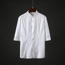 韩版男士短袖衬衫修身2018新款帅气休闲衣服潮流青年男装衬衣-318