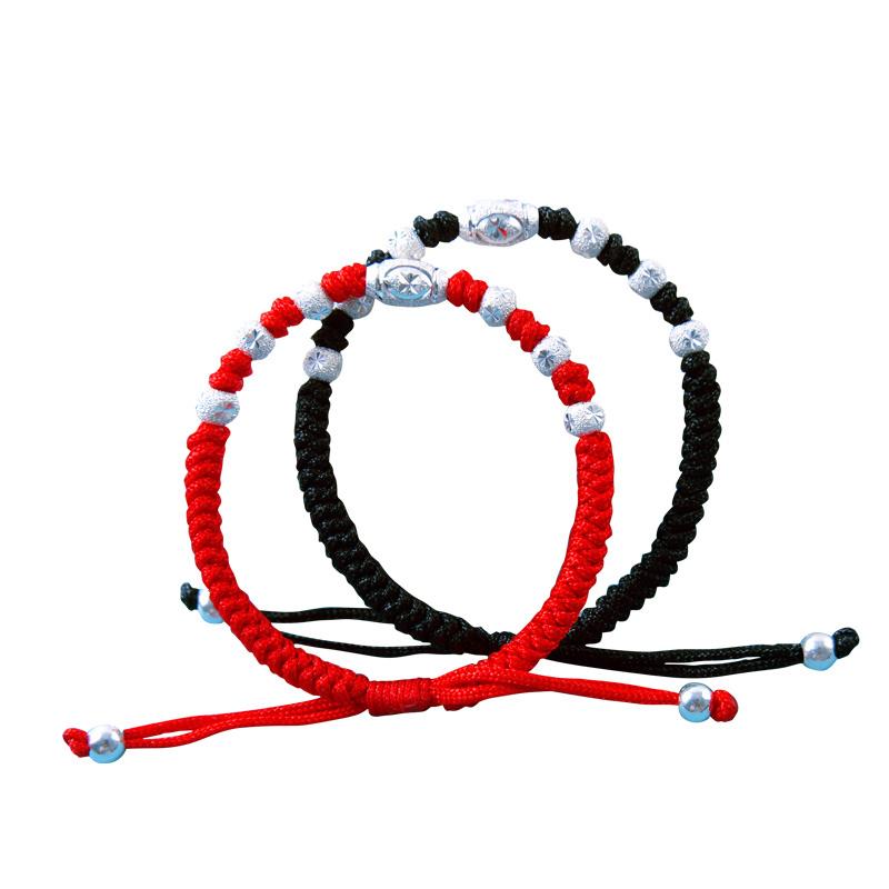 推荐最新红绳转运银 转运珠红绳手链编法信息资料