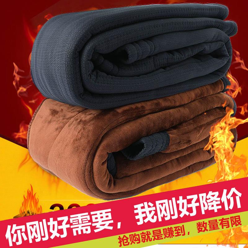 冬季加绒加厚女驼绒棉裤东北中老年人保暖裤高腰宽松羊毛裤60岁7