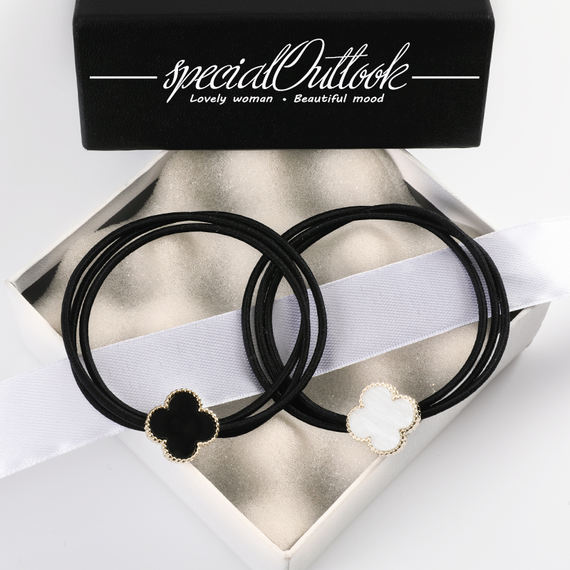SO tie hair band hair rope hair ring leather case simple ball head personality tiara head rope new small fresh adult