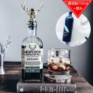 【东欧野格 送蓝鲸+鹿头】俄罗斯进口莫罗4号圣鹿先生力娇酒 35度