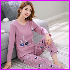 Daily specials autumn pajamas women autumn Korean version of the cotton autumn long-sleeved spring and autumn cotton suit autumn home service winter