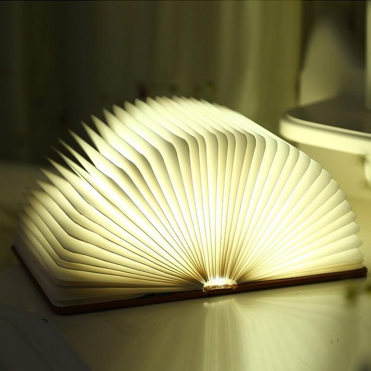LED书灯创意折叠书本灯usb充电小夜灯定制批发宿舍卧室睡眠台灯