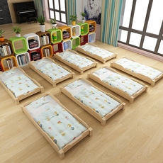 Kindergarten nap bed managed solid wood small bed children's special stack bed baby special bed solid wood single bed