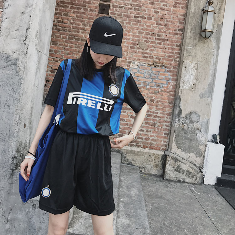 包邮 出口足球服套装 男女可穿 嘻哈韩版套装 班服团体套装印数字