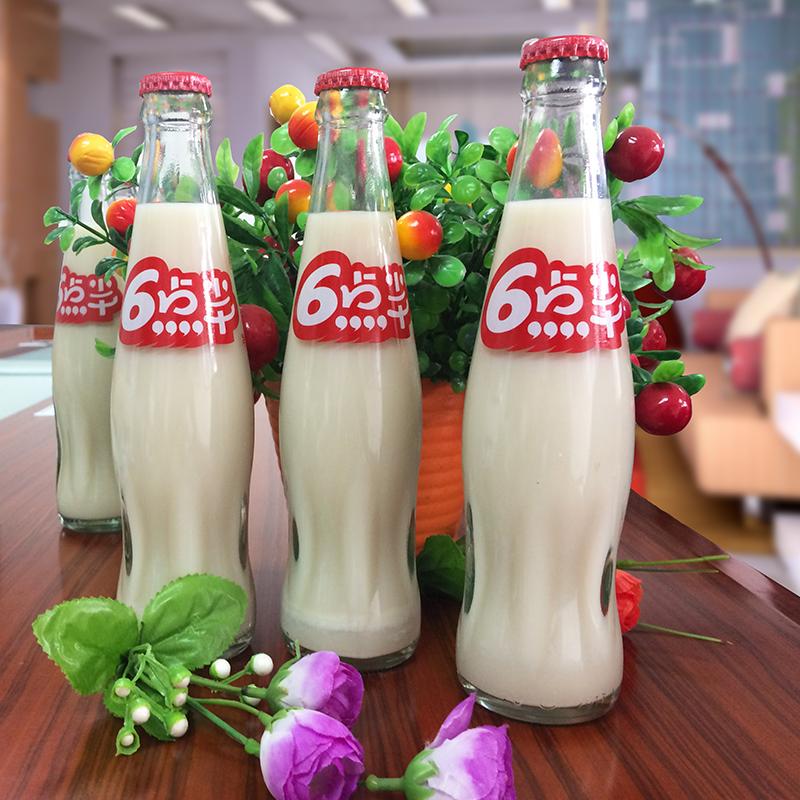 【拍下减5元】六点半豆奶饮料12瓶 原味豆奶饮品 238ml玻璃瓶