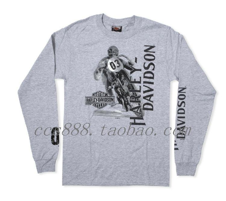 19713美国魔域哈雷男士摩托车骑士机车长袖T恤正品代购