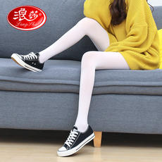 Langsha white stockings thin section anti-hook summer pantyhose Japanese adult dance student bottoming socks female