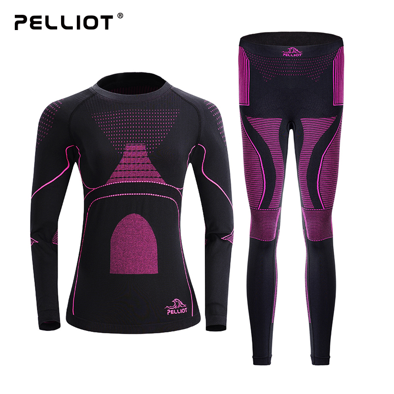 伯希和户外功能内衣男女运动保暖透气滑雪修身COOLMAX内衣裤套装